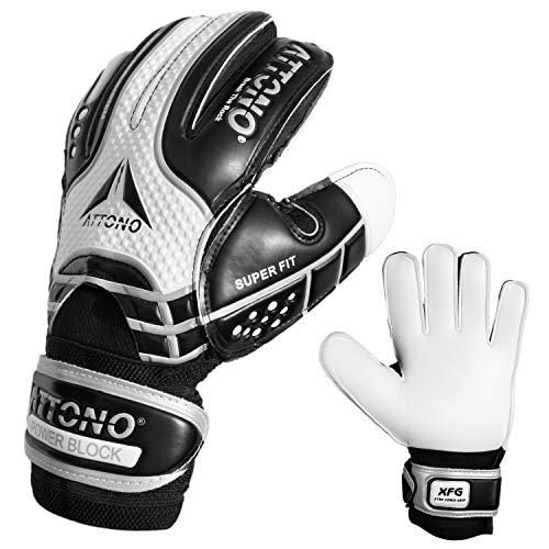 Torwarthandschuhe Power Block V01 Fingersave Torwart Handschuhe von ATTONO® (3-11) (6)