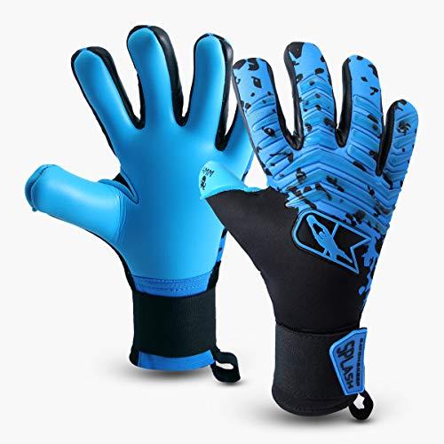 CATCH&KEEP Profi Torwarthandschuhe für Erwachsene - maximaler Grip - Premium Modell - Tormannhandschuhe Fussball - mit unserem Octopus Grip (Splash - Blau, 9)