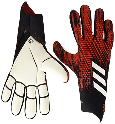 adidas PRED GL PRO Soccer Gloves, Black/Active red, 8.5