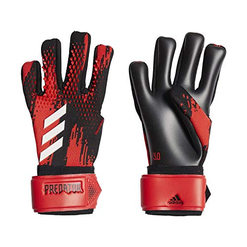 adidas PRED GL LGE Soccer Gloves, Black/Active red, 10